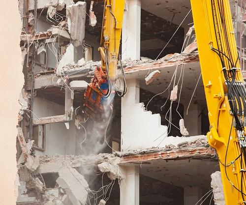travaux de démolition à Grenoble